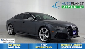 2016 Audi RS 7 4.0T Quattro, S Line, Navi, Moon Roof, Bluetooth!