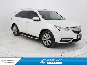 2015 Acura MDX AWD, Elite Pkg, Navi, DVD, Sunroof, 360 View!