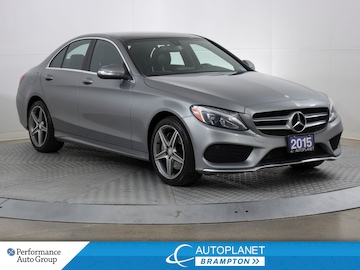2015 Mercedes-Benz C300 4MATIC, AMG Alloys, Navi, Pano Roof, Back Up Cam! Sedan
