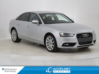 2014 Audi A4 2.0 Quattro, Komfort, Sunroof, Heated Seats! Sedan