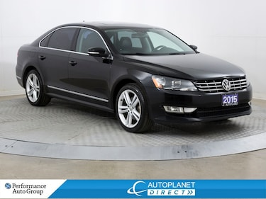 2015 Volkswagen Passat Highline, Back Up Cam, Sunroof, Heated Seats! Sedan