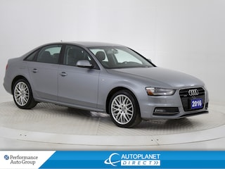 2016 Audi A4 2.0T Quattro, Komfort, S Line, Sunroof, Bluetooth! Sedan