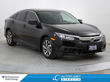 2018 Honda Civic EX, Back Up Cam, Sunroof, Honda Sensing Tech! Sedan