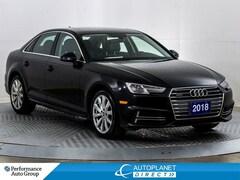 2018 Audi A4 Quattro, Komfort+, Sunroof, Heated Seats! Sedan