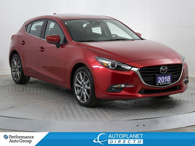 2018 Mazda Mazda3 GT, Premium Pkg, Navi, Moon Roof, Back Up Cam! Hatchback