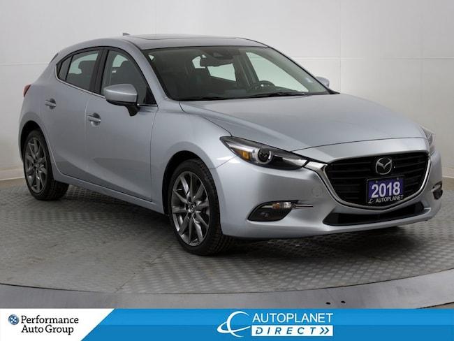 2018 Mazda Mazda3 GT, Premium, Navi, Back Up Cam, MoonRoof, Leather! Hatchback