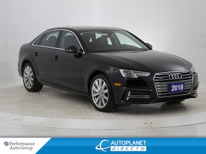 2018 Audi A4 Quattro, Komfort, Sunroof, Audi Smart Phone