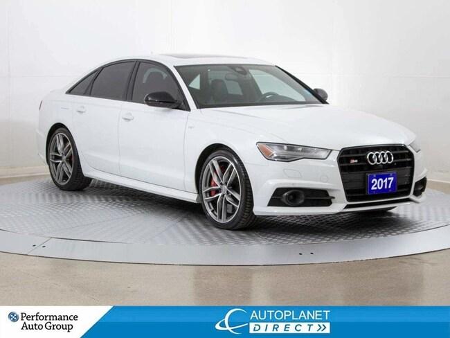 2017 Audi S6 Quattro, Technik, Black Optics Pkg, Navi, Sunroof! Sedan