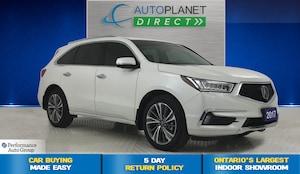 2017 Acura MDX AWD, Elite Pkg, Navi, 6 Passenger, Sunroof!