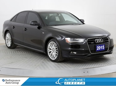 2015 Audi A4 Quattro, Komfort+, S-Line, New Tires/Rear Brakes! Sedan
