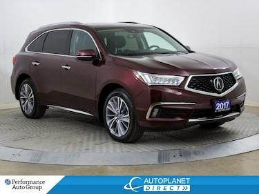 2017 Acura MDX AWD, Elite Pkg, 6 Passenger, Navi, Sunroof! SUV