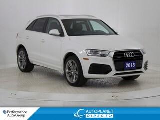 2018 Audi Q3 Quattro, Progressiv, Auto Parking System Plus! SUV