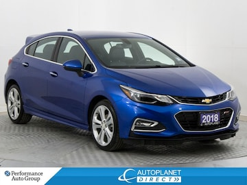 2018 Chevrolet Cruze Premier, Back Up Cam, Remote Start, Leather! Hatchback