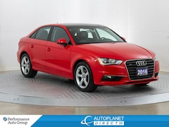2016 Audi A3 2.0T Quattro, Komfort, Sunroof, Heated Seats! Sedan