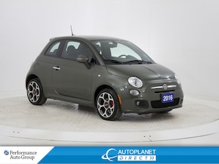 2016 Fiat 500 Sport, Knee Airbag, Bluetooth, Spoiler! Hatchback