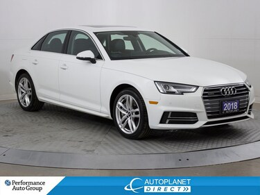 2018 Audi A4 Quattro, Technik, Navi, 360 Cam, Sunroof, Bluetooth! Sedan