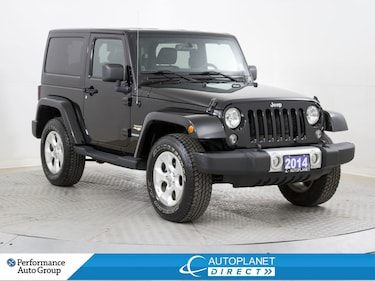 2014 Jeep Wrangler Sahara 4x4, DVD, Heated Seats, Leather! SUV