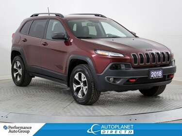 2018 Jeep Cherokee Trailhawk 4x4, Leather Plus, Navi, NEW TIRES! SUV