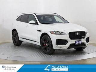 2018 Jaguar F-Pace S AWD, Navi, Pano Roof, Back Up Cam! SUV