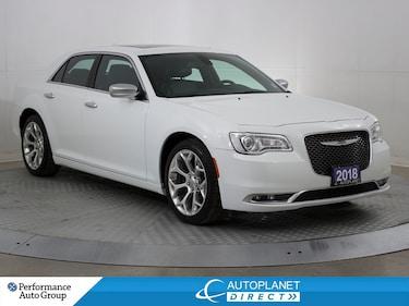 2018 Chrysler 300 C, HEMI, Navi, Remote Start, Leather, Bluetooth! Sedan