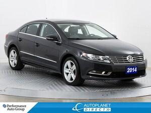 2014 Volkswagen CC Sportline, Back Up Cam, Sunroof, Heated Seats!