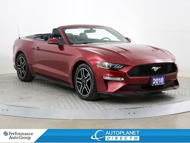 2018 Ford Mustang Ecoboost Convertible, Navi, Back Up Cam! Convertible