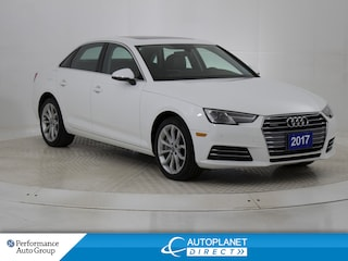 2017 Audi A4 2.0T Quattro, Progressiv, Navi, Sunroof! Sedan