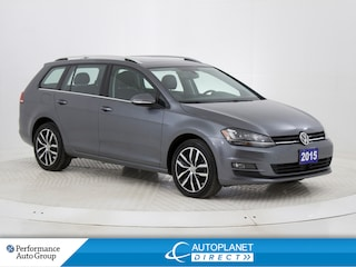 2015 Volkswagen Golf 2.0 TDI Highline, Navi, Pano Roof, Back Up Cam! Sportwagon