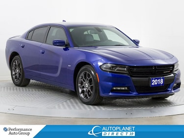 2018 Dodge Charger GT+ AWD, Back Up Cam, Sunroof, Blind Spot Monitor! Sedan