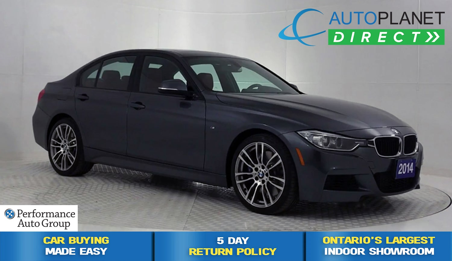2014 BMW 335i xDrive, Performance + M Pkg, Sunroof! Sedan