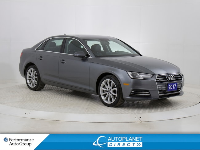 2017 Audi A4 2.0T Quattro, Progressiv, Navi, Moon Roof! Sedan