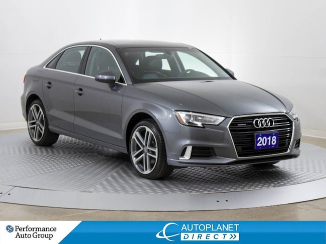 2018 Audi A3 2.0T Quattro, Progressiv, Sunroof, Back Up Cam! Sedan