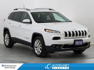 2016 Jeep Cherokee Limited 4x4, Navi, Dual Pano Roof, Remote Start! SUV
