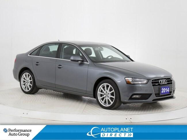 2014 Audi A4 2.0 Quattro, Progressiv, Navi, Sunroof! Sedan