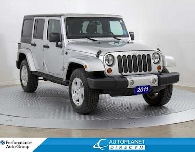 2011 Jeep Wrangler Unlimited Sahara 4x4, Navi, Heated Seats, Soft Top! SUV