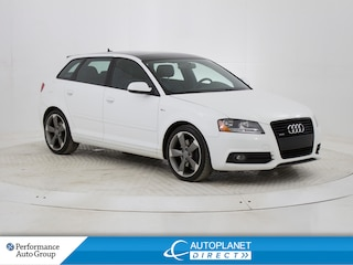2013 Audi A3  Quattro Progressiv, S Line, Sunroof, Bluetooth! Hatchback