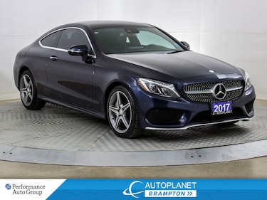 2017 Mercedes-Benz C-Class C300 4MATIC, Navi, Back Up Cam, Pano Roof! Coupe