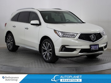 2019 Acura MDX AWD, Elite Pkg, Navi, Sunroof, Cooled Seats, DVD! SUV