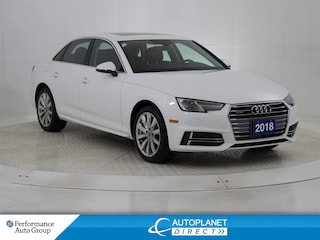2018 Audi A4 Quattro, Komfort, Sunroof, Audi Smart Phone Sedan