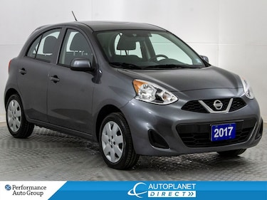 2017 Nissan Micra SV, Keyless Entry, Clean Carfax, Ontario Vehicle! Hatchback