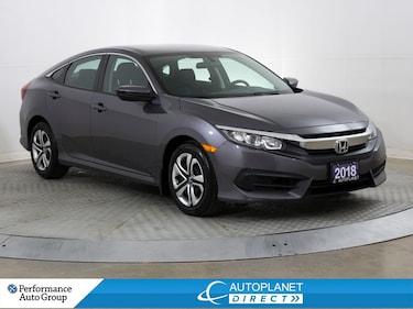 2018 Honda Civic LX, Back Up Cam, Apple CarPlay, Bluetooth! Sedan