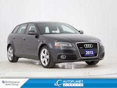 2013 Audi A3  Quattro, Progressiv, S Line, Sunroof, Bluetooth! Hatchback