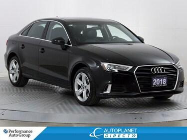 2018 Audi A3 2.0T Komfort, Sunroof, Heated Seats, Bluetooth! Sedan