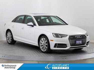 2018 Audi A4 Quattro, Komfort+, Sunroof, Heated Seats! Sedan