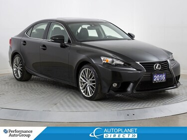 2016 LEXUS IS 300 AWD, Navi, Back Up Cam, Sunroof! Sedan