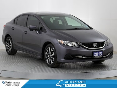 2015 Honda Civic EX, Back Up Cam, Heated Seats, Moon Roof! Sedan