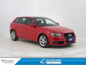 2012 Audi A3 2.0T Quattro, S Line, Progressiv, Sunroof!