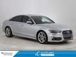 2013 Audi S6 4.0T Quattro, Navi, Back Up Cam, Moon Roof!