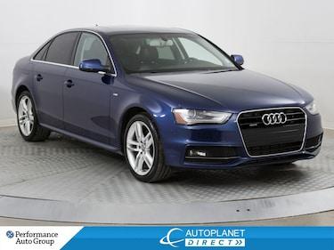 2015 Audi A4 2.0T Quattro, Technik, S Line, Navi, Back Up Cam! Sedan
