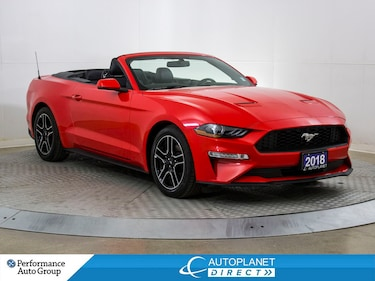 2018 Ford Mustang EcoBoost Premium, Navi, Bluetooth, Cooled Seats! Convertible